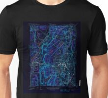 USGS TOPO Map Connecticut CT New Britain 461322 1946 31680 Inverted Unisex T-Shirt