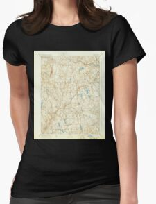 USGS TOPO Map Connecticut CT Gilead 331030 1892 62500 Womens Fitted T-Shirt