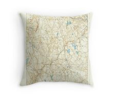 USGS TOPO Map Connecticut CT Gilead 331030 1892 62500 Throw Pillow