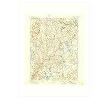 USGS TOPO Map Connecticut CT Gilead 331030 1892 62500 Art Print