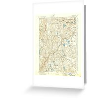 USGS TOPO Map Connecticut CT Gilead 331030 1892 62500 Greeting Card
