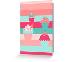 cupcakes colors Greeting Card