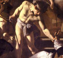 The Martyrdom of Saint Matthew by Caravaggio (1600) Sticker