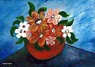 A pot full of flowers by Elizabeth Kendall