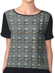 Chilly Owl Chiffon Top