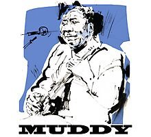 Muddy Waters - Father of modern Chicago Blues Photographic Print