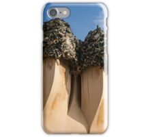 Whimsical Chimneys - Antoni Gaudi Bottle Glass Trio at Casa Mila iPhone Case/Skin