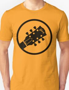 gibson  stylized headstock black T-Shirt