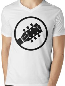 gibson  stylized headstock black Mens V-Neck T-Shirt