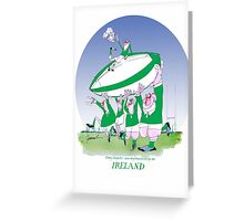 Rugby Ireland 3 cheers !, tony fernandes Greeting Card