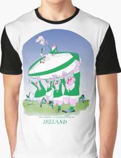 Rugby Ireland 3 cheers !, tony fernandes Graphic T-Shirt