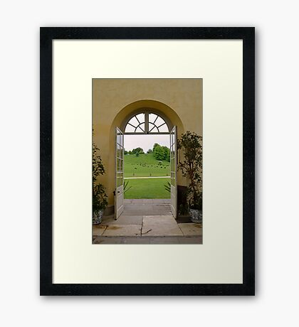 Doors Opening Out Onto an English Country Estate Framed Print