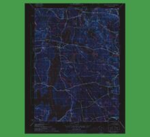 USGS TOPO Map Rhode Island RI North Scituate 353432 1943 31680 Inverted One Piece - Short Sleeve