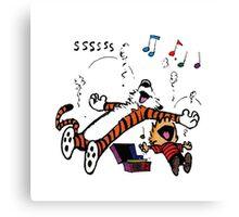 Calvin and Hobbes Sleep Canvas Print