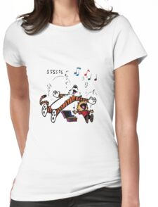 Calvin and Hobbes Sleep Womens Fitted T-Shirt