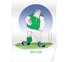 Rugby Ireland champion, tony fernandes Poster