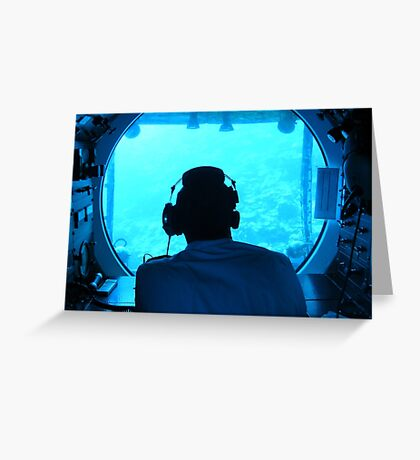 Into the Deep Blue Greeting Card