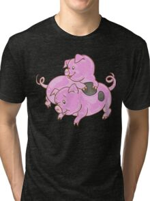 Lovely Pig Tri-blend T-Shirt