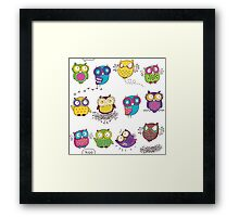 Comics owls Framed Print