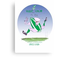 Rugby Ireland keep calm, tony fernandes Canvas Print