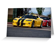 Dodge Viper GTS  Greeting Card
