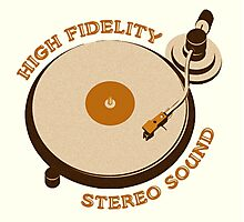 Vintage Vinyl Record High Fidelity Stereo Sound Photographic Print