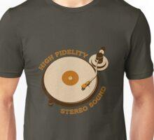 Vintage Vinyl Record High Fidelity Stereo Sound Unisex T-Shirt