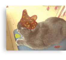 Cat Hat Canvas Print