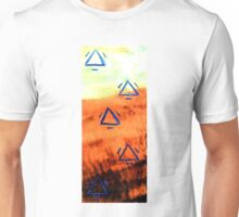 Pyramids blau Unisex T-Shirt