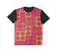 Lime Green and Fuchsia Pop Art Patchwork Graphic T-Shirt