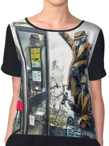 Government listening post by Banksy! Chiffon Top