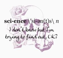 Carlos The Scientist - Science Tattoo (Black Writing) Kids Tee