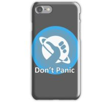 Don't Panic! Hitchhikers guide to the galaxy themed dont panic, thumbs up symbol, blue, minimal iPhone Case/Skin