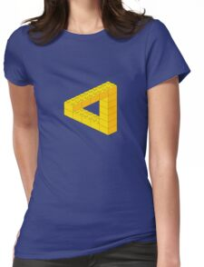 Lego-style impossible Penrose triangle shape Womens Fitted T-Shirt