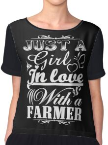 just a girl in love with a farmer Chiffon Top
