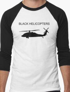 BLACK HELICOPTER Men's Baseball ¾ T-Shirt