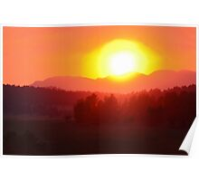 Wildfire Sunset Poster