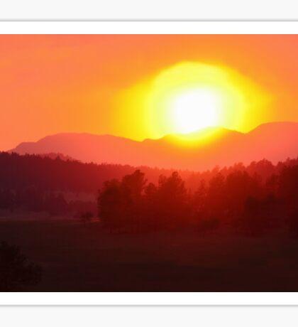 Wildfire Sunset Sticker