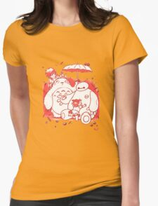 Totoro and Baymax Womens Fitted T-Shirt