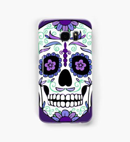 Purple Sugar Skull  Samsung Galaxy Case/Skin