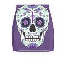 Purple Sugar Skull  Mini Skirt