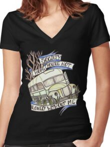 """Into the Wild """"Society"""" Women's Fitted V-Neck T-Shirt"""