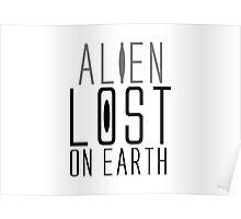 IMPACT design: alien lost on earth Poster