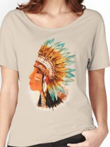 Native American Indian Shief  Women's Relaxed Fit T-Shirt