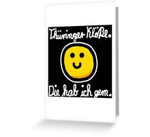 Thüringer Kloß (Weiß) Greeting Card