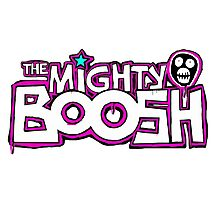 Mighty Boosh Logo, Colourful, Funky, Funny Photographic Print