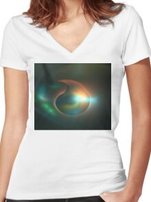 Submersible Women's Fitted V-Neck T-Shirt