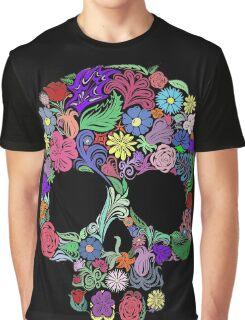 Sugar Skull  Floral  Graphic T-Shirt