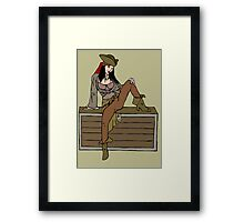 Sexy pirate Framed Print