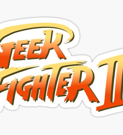 Street Fighter II - Geek Fighter II Sticker